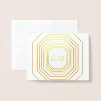 Glam Deco Personalized Folded Card