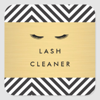 Glam Eyelashes with Bold Pattern Lash Cleaner Square Sticker