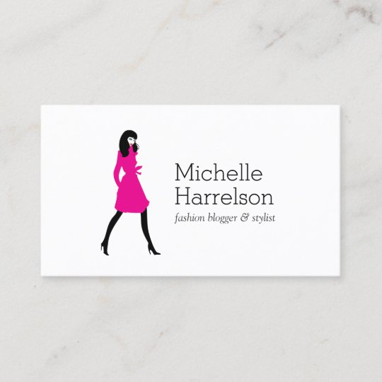 Glam fashion girl style blogger business card zazzle glam fashion girl style blogger business card colourmoves