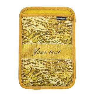 Glam Faux Gold Foil Zebra Pattern iPad Mini Sleeves