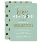 Glam Faux Gold Modern Baby Shower Invitations