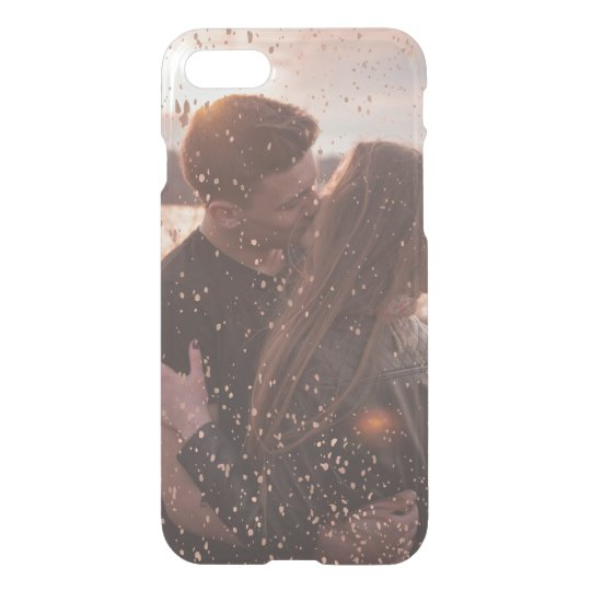 Glam Faux Rose Gold Flecks Over Your Photo iPhone 7 Case