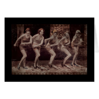 Glam Girl Flappers Dancing Card