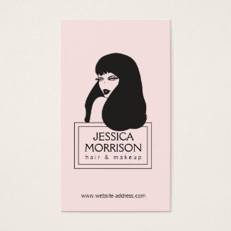 Glam Girl Lt Pink Hair Salon Beauty Business Card