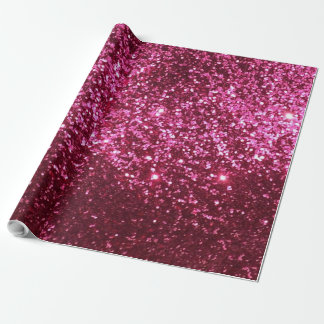 Glam Glitter Pink Wrapping Paper
