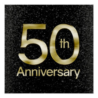 Glam Gold 50th Anniversary Perfect Poster