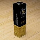 Glam Gold and Black Custom Birthday Wine Box
