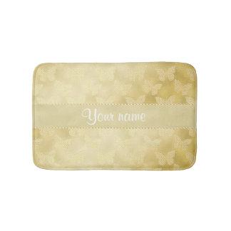Glam Gold Butterflies Bathroom Mat