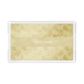 Glam Gold Butterflies Perfume Tray