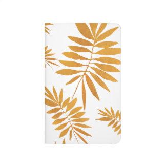 Glam gold fern journals