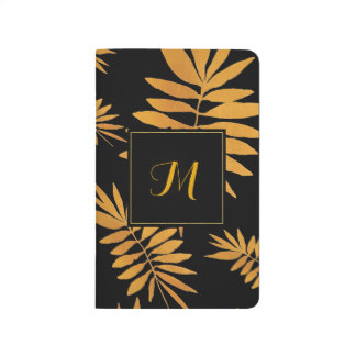 Glam gold fern - Monogram Journal
