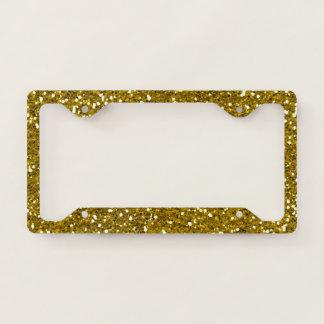 Glam Gold Glitter License Plate Frame
