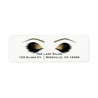 Glam Gold Glitter Makeup Eyelashes Beauty Salon