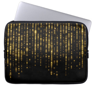 Glam gold glitter & sparkles laptop sleeve