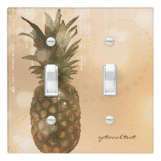 Glam Golden Pineapple Elegant Tropical Custom Light Switch Cover