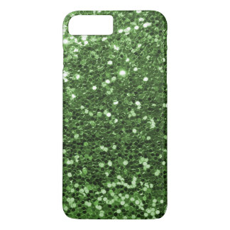 Glam Green Faux Glitter Fun Print iPhone 8 Plus/7 Plus Case