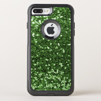 Glam Green Faux Glitter Fun Print OtterBox Commuter iPhone 8 Plus/7 Plus Case