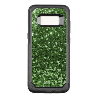 Glam Green Faux Glitter Fun Print OtterBox Commuter Samsung Galaxy S8 Case