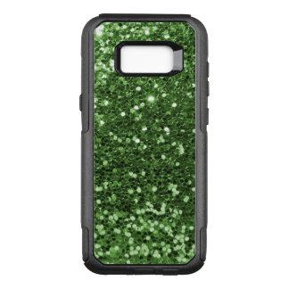 Glam Green Faux Glitter Fun Print OtterBox Commuter Samsung Galaxy S8+ Case