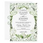 Glam Greenery wedding invitations