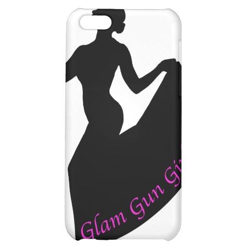 Glam Gun Girl iPhone Case iPhone 5C Case