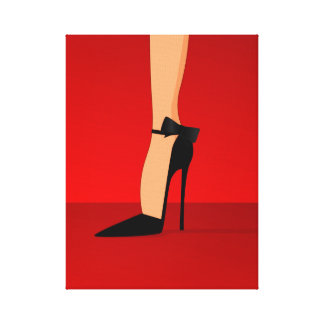 Glam high heel shoes Canvas Wall Art