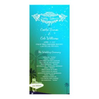 Glam Las Vegas Wedding Program Customized Rack Card