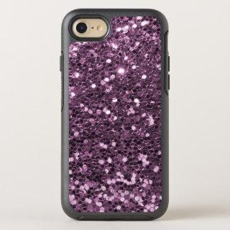 Glam Lavender Faux Glitter Purple Print OtterBox Symmetry iPhone 7 Case