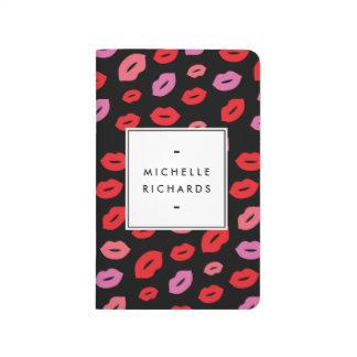 Glam Lip Print Makeup Artist Beauty Pink/Red/Black Journal