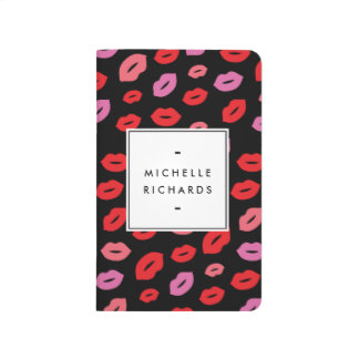 Glam Lip Print Makeup Artist Beauty Pink/Red/Black Journals