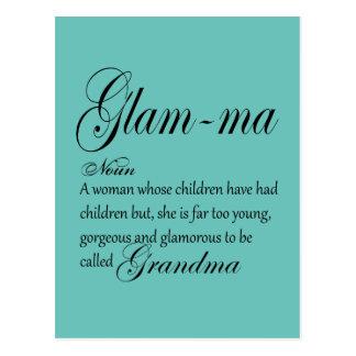 GLAM MA grandma definition Postcard