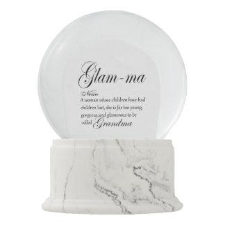 GLAM MA grandma definition Snow Globe