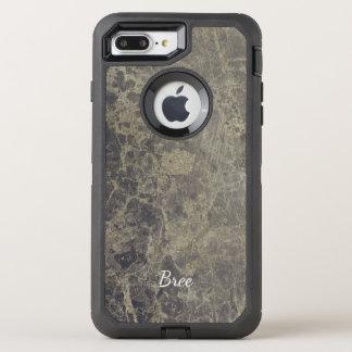 Glam Marble Granite Shimmer Elegant Designer Style OtterBox Defender iPhone 7 Plus Case