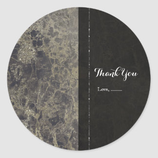 Glam Marble Granite Shimmer Elegant Party Favor Classic Round Sticker