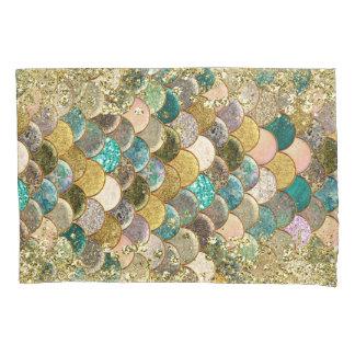 Glam Mermaid Scales Glitter Sparkle Modern Chic Pillowcase