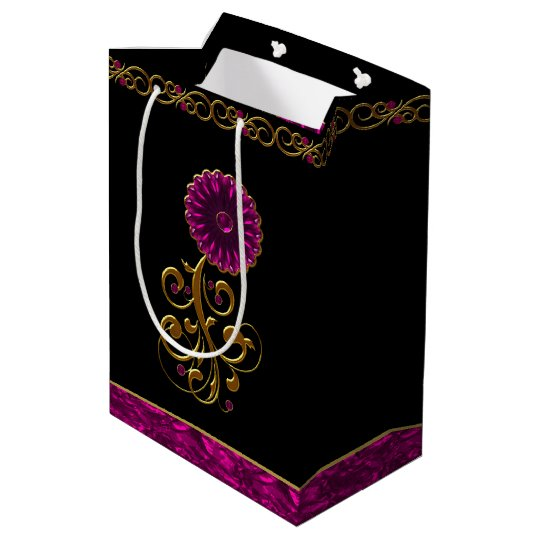 Glam Orchid Flower Jewel Gift Bag
