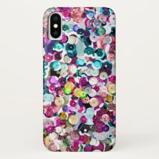 Glam Oversize Faux Sequins Rainbow Bling Case-Mate iPhone Case