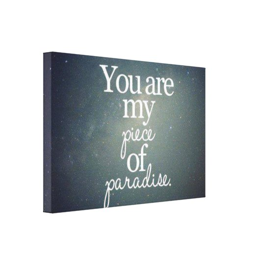 Glam Piece of Paradise Shine Canvas