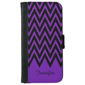 Glam Purple Chevron iPhone 6 Wallet Case