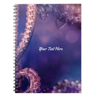 Glam Purple Glow Chic Glamour Personalized Notebooks