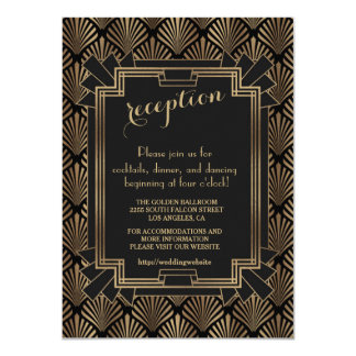 Glam Roaring 20's Great Gatsby 1920s Reception Card