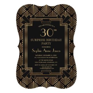 Glam Roaring 20's Great Gatsby Art Deco Birthday Card