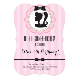 Glam Spa Birthday Party Invitation