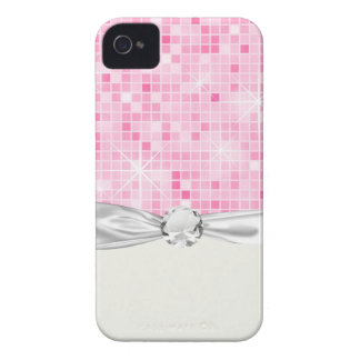 glam sparkle faux bling iPhone 4 case