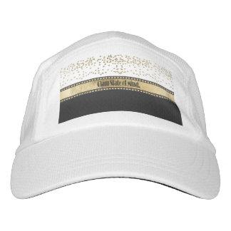 """Glam State of Mind"" Gold Studs, Confetti & Black Hat"