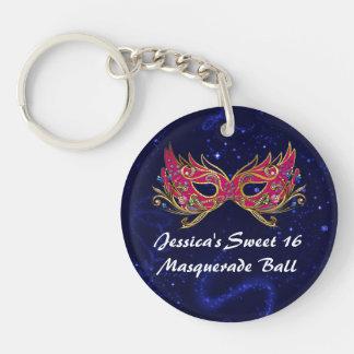 Glam Sweet 16 Masquerade Mask Key Chain