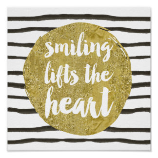 Glam Typography | Faux Gold Foil Lettering Quote Poster