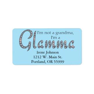 Glamma bling design address labels