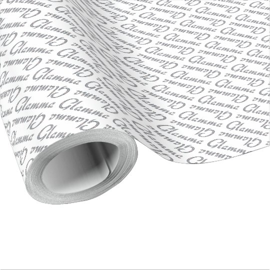 Glamma bling design wrapping paper