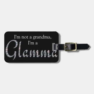Glamma bling luggage tag